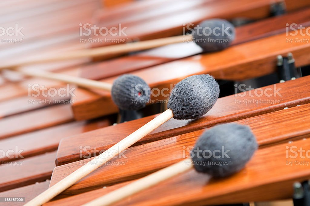 Sticks on marimba stock photo