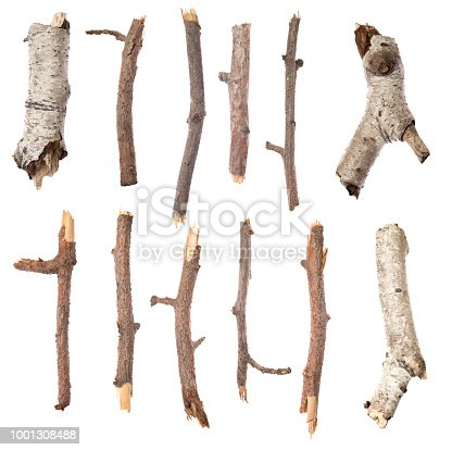 Sticks isolated on white background