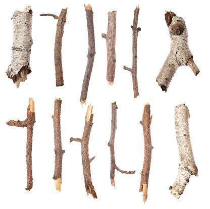 Sticks on white
