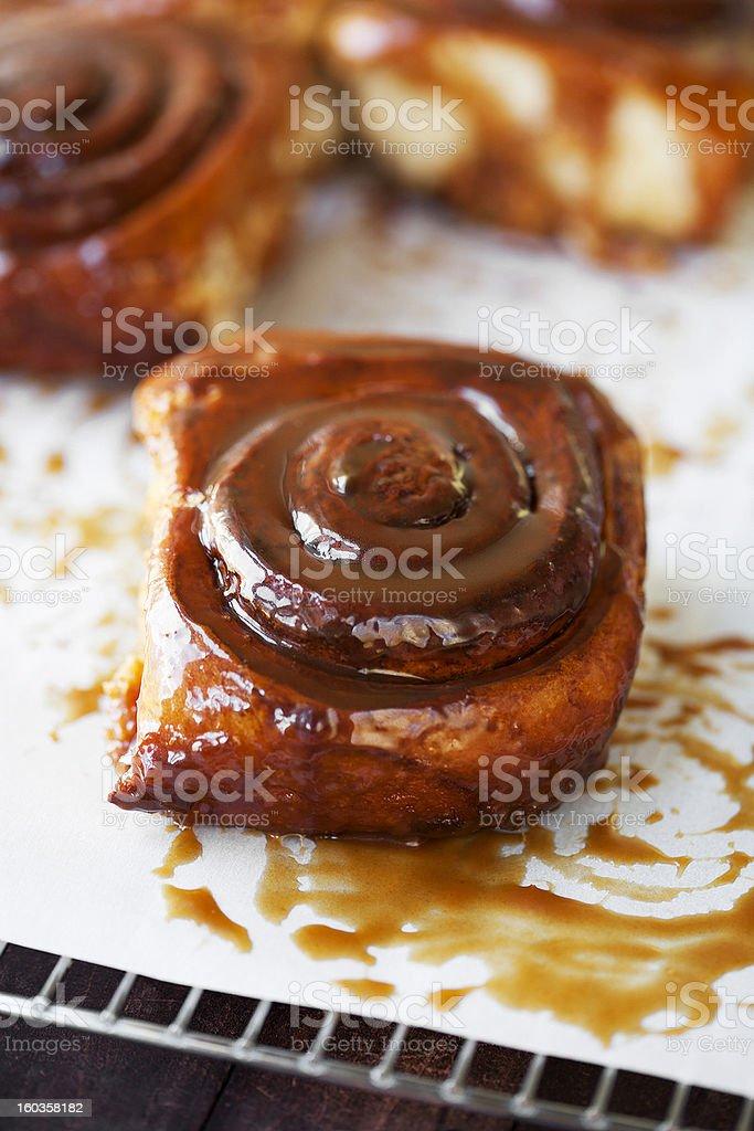 sticky buns stock photo