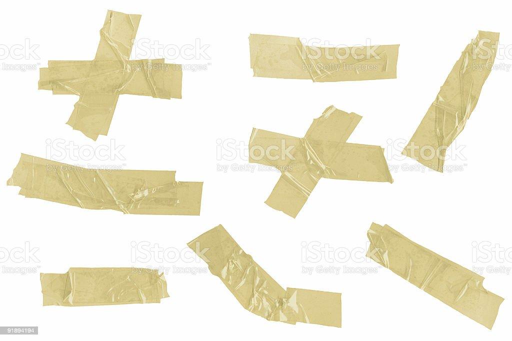 Sticky masking tape strips royalty-free stock photo