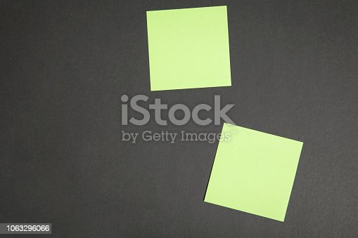 istock Sticky Note On Blackboard 1063296066