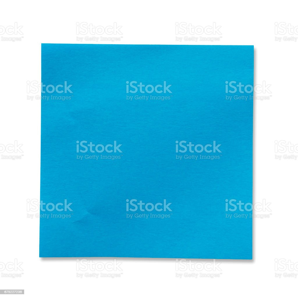 Sticky Note(post it) on White Background - Clipping Path royalty-free stock photo
