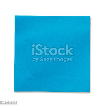 istock Sticky Note(post it) on White Background - Clipping Path 675227236