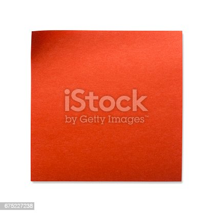 istock Sticky Note(post it) on White Background - Clipping Path 675227238