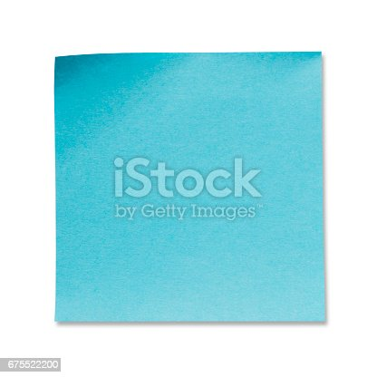 istock Sticky Note(post it) on White Background - Clipping Path 675522200