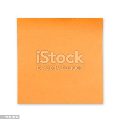 istock Sticky Note(post it) on White Background - Clipping Path 675947394