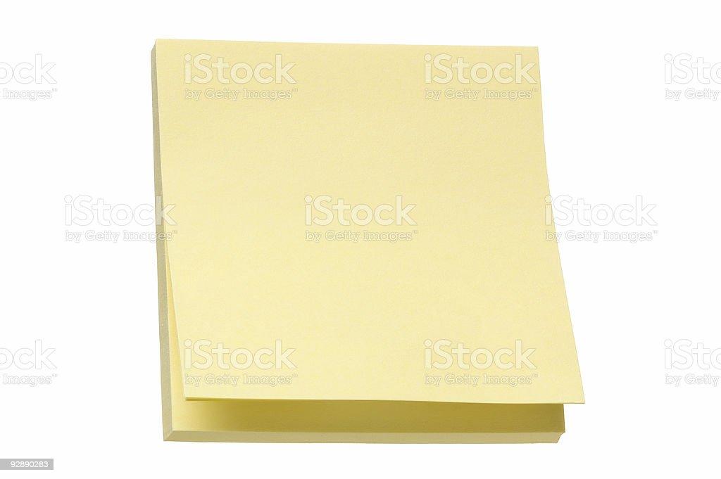 Sticky Note Pad stock photo
