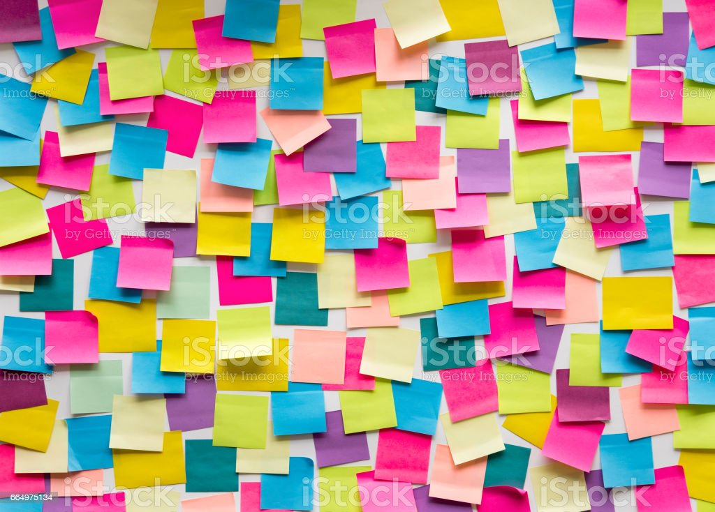 Sticky Note Post It Board Office royalty-free stock photo