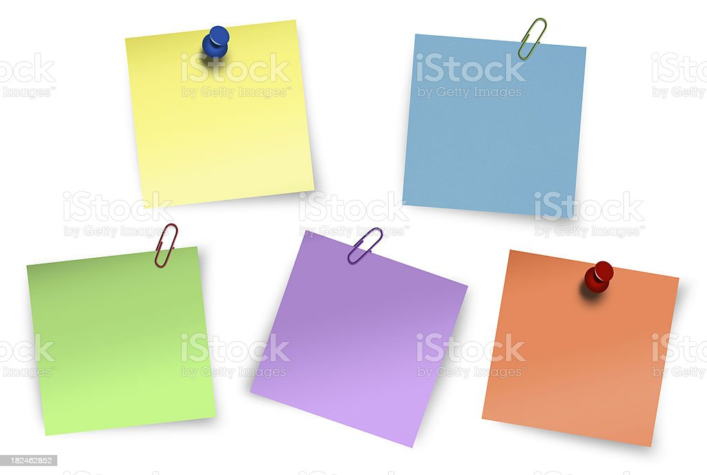 sticky notes collections stock photo