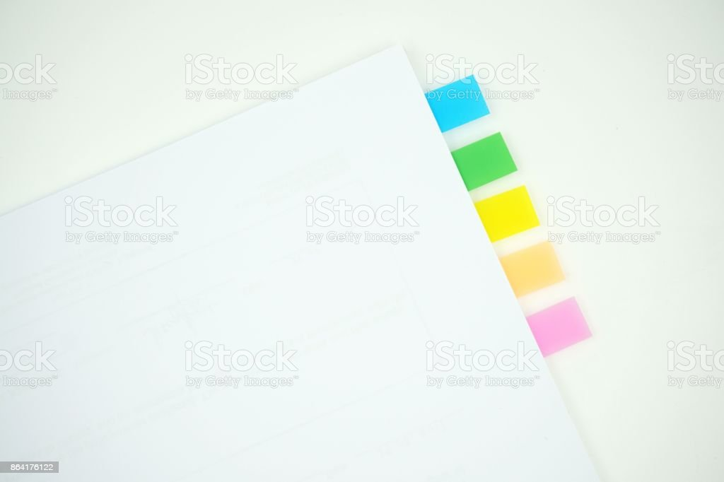 Sticky notes markers royalty-free stock photo