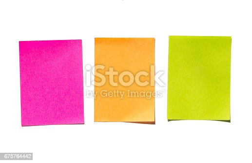 istock Sticky notes. Memo stick or post note 675764442