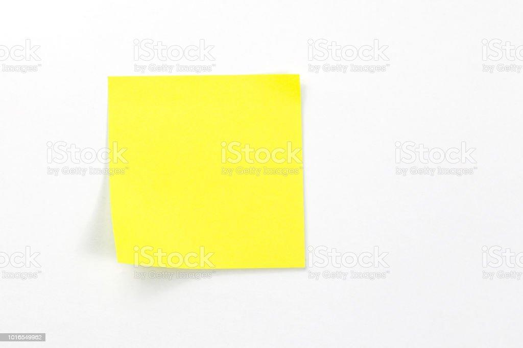 sticky notes On a white background stock photo