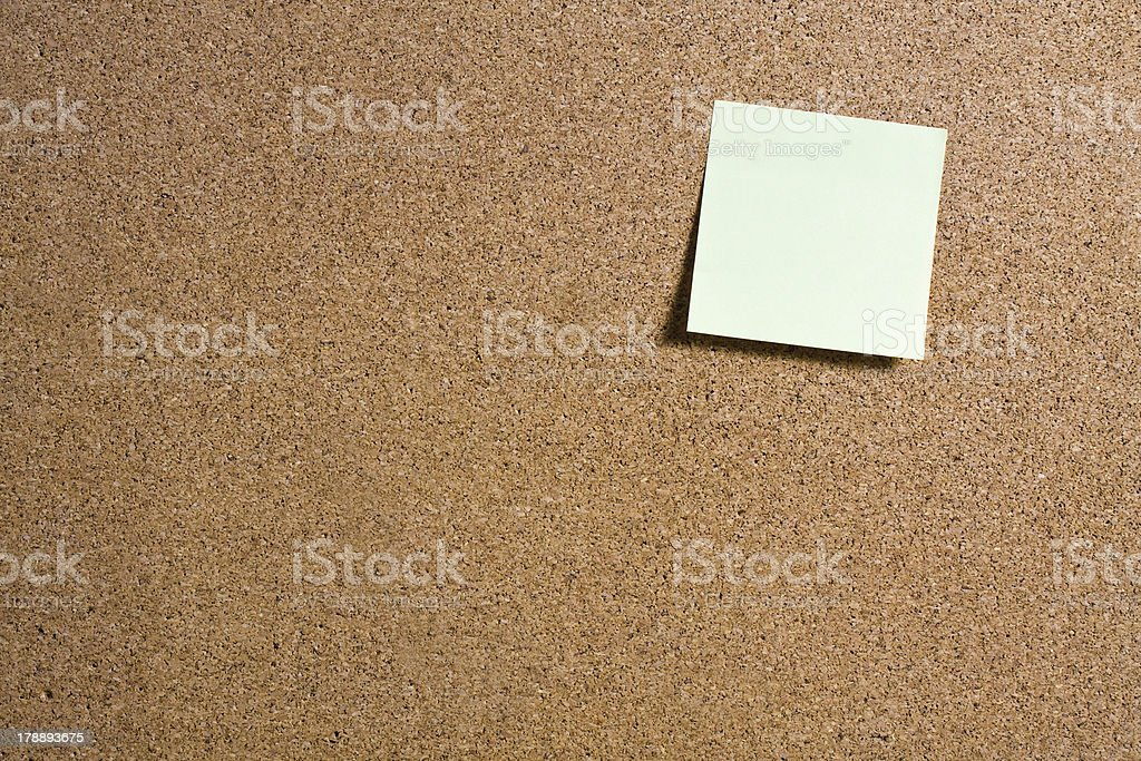 Sticky Notes on Cork Board royalty-free stock photo