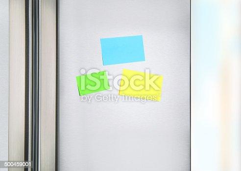 istock Sticky notes on the fridge 500459001