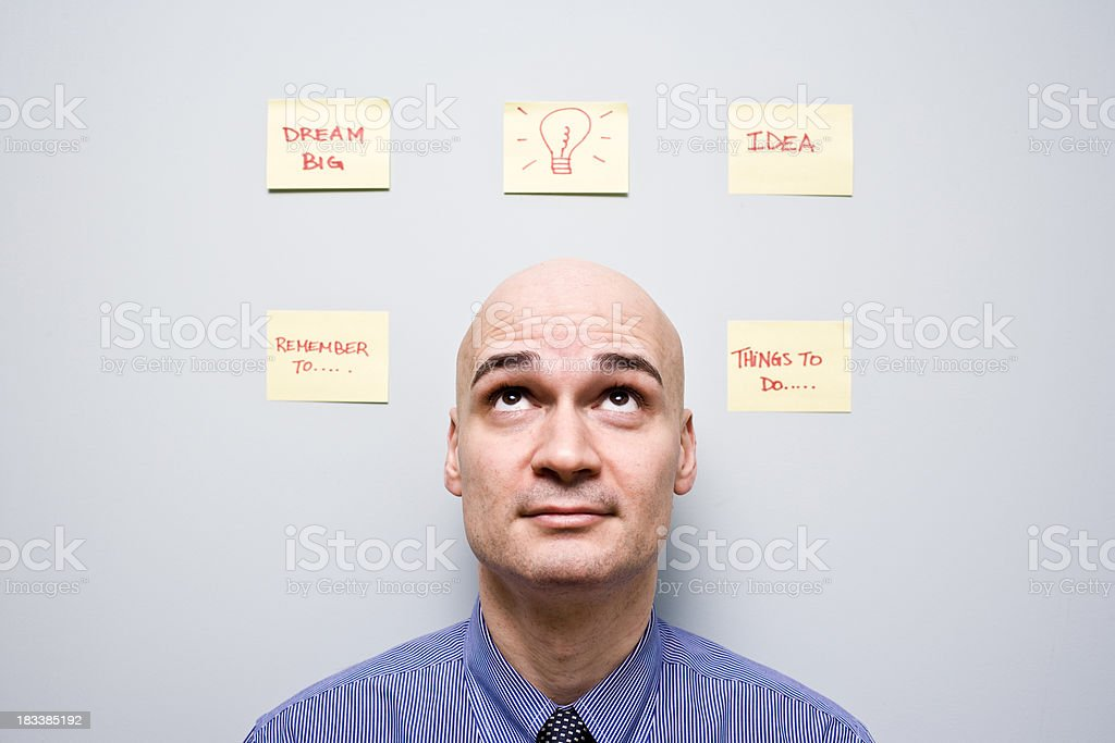 Sticky notes on the wall royalty-free stock photo