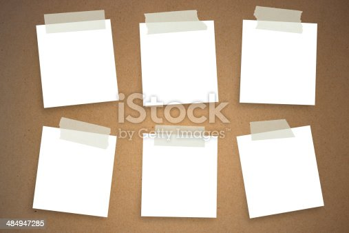 istock Sticky Notes on wall 484947285