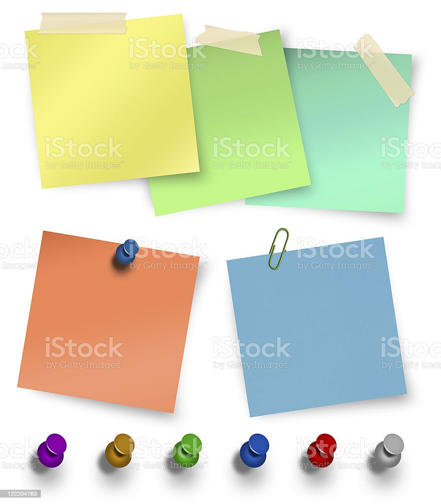 sticky notes royalty-free stock photo
