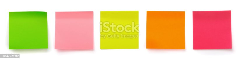 istock Sticky notes 184725282