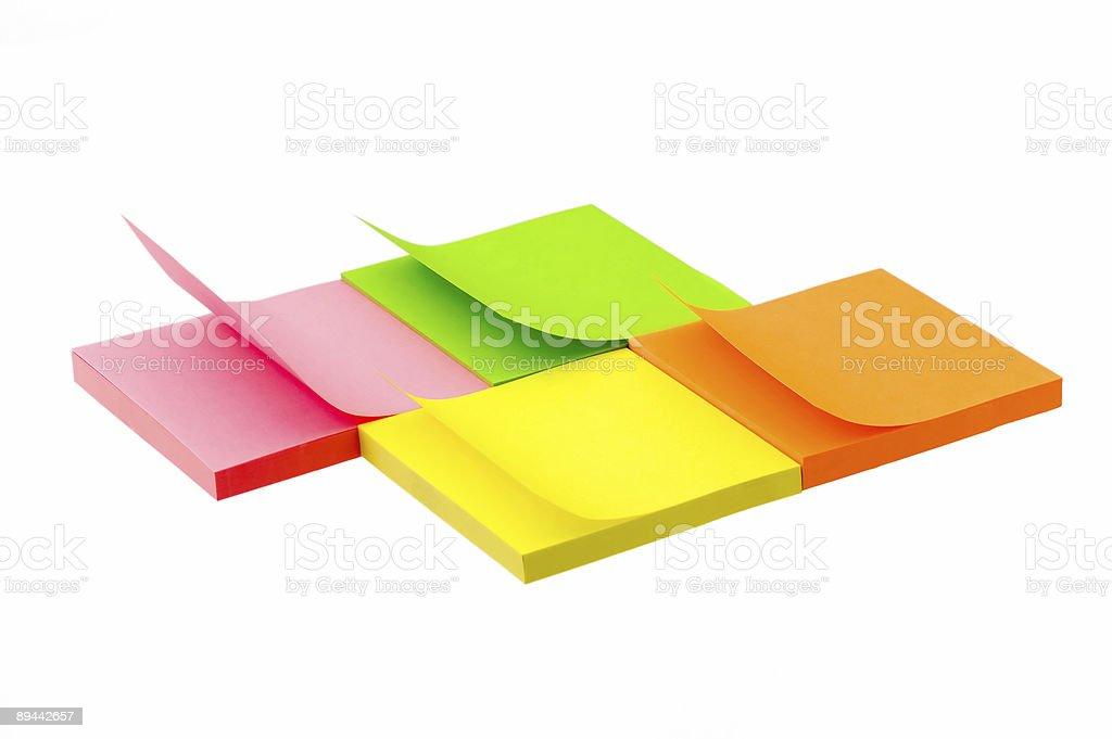 Sticky notes royalty free stockfoto