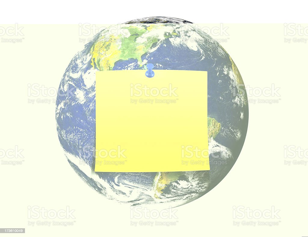 Sticky On Earth royalty-free stock photo