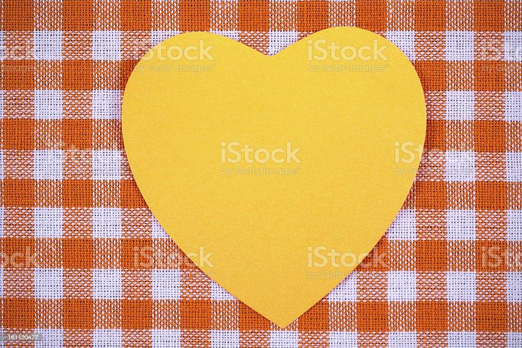 Sticky on orange tablecloth royalty-free stock photo