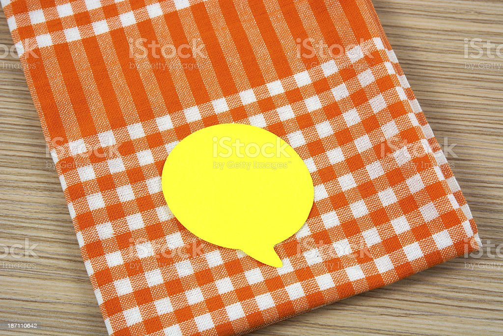 Sticky on tea towel royalty-free stock photo