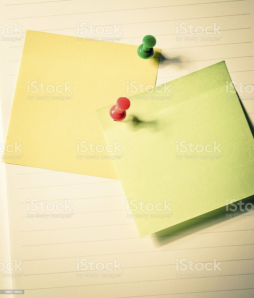 sticky papers royalty-free stock photo
