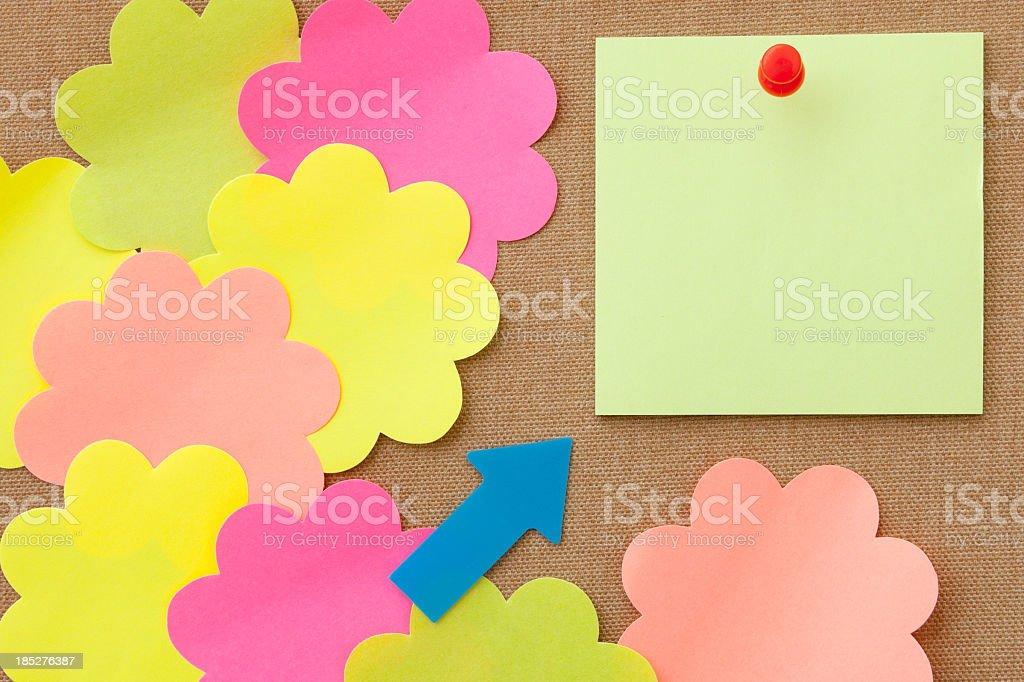 Sticky Colorful Sticky Note. Adhesive Note Stock Photo