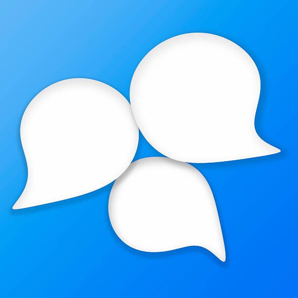 Sticky Speech Bubbles. Raster image. stock photo