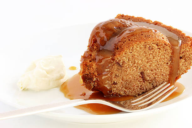Sticky toffee pudding stock photo