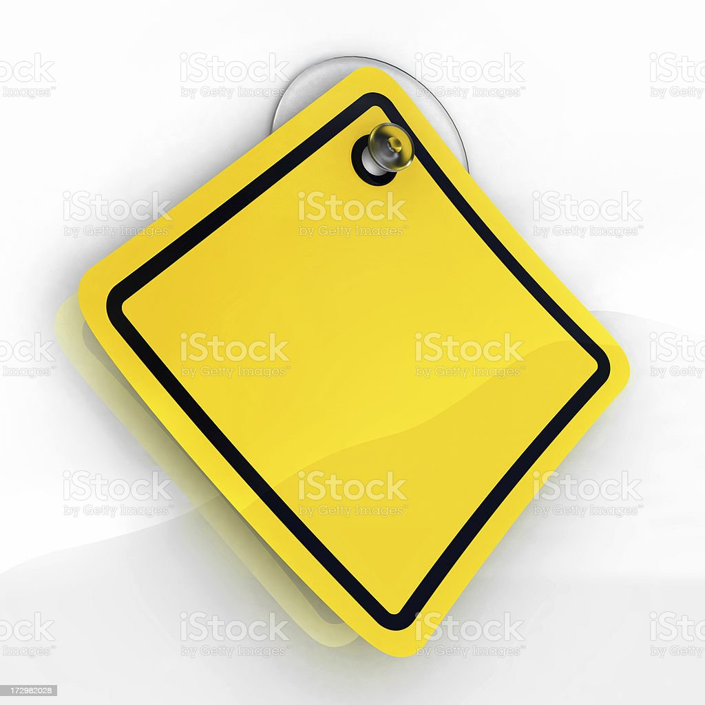 Sticky warning stock photo