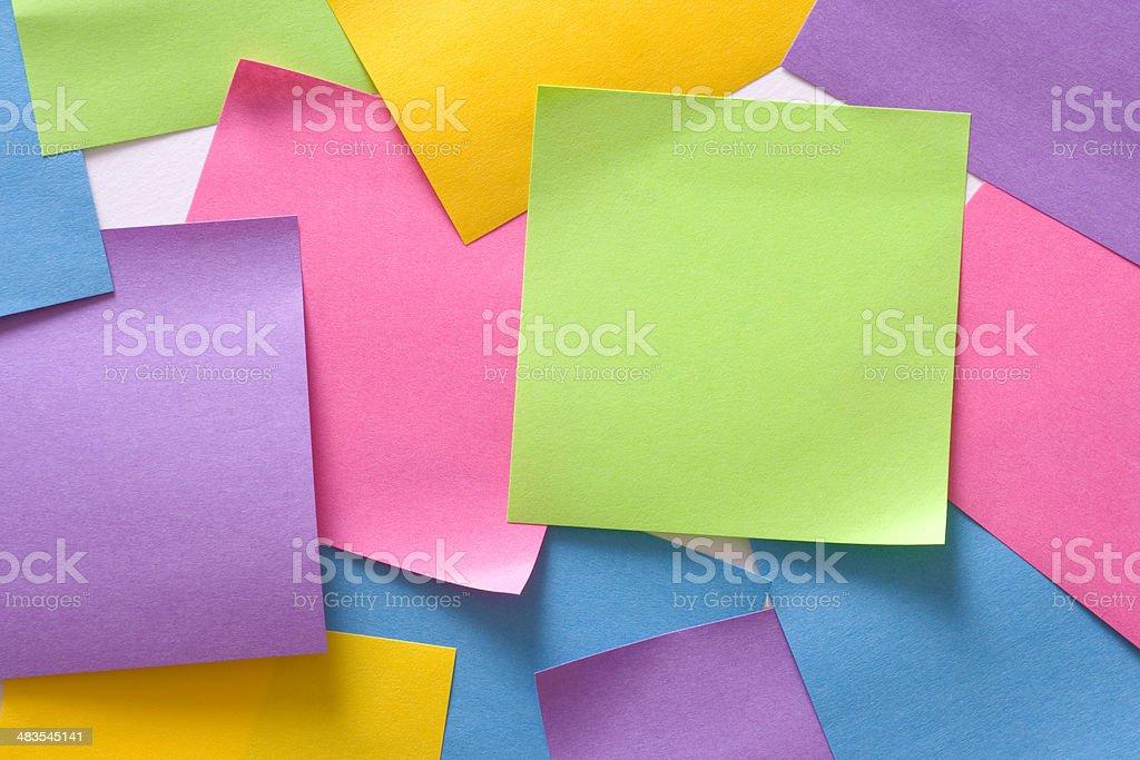 Sticky-back notes royalty-free stock photo
