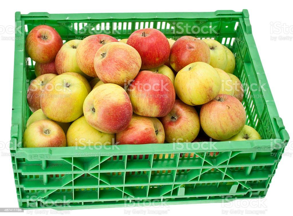 Stiege mit Äpfel stock photo