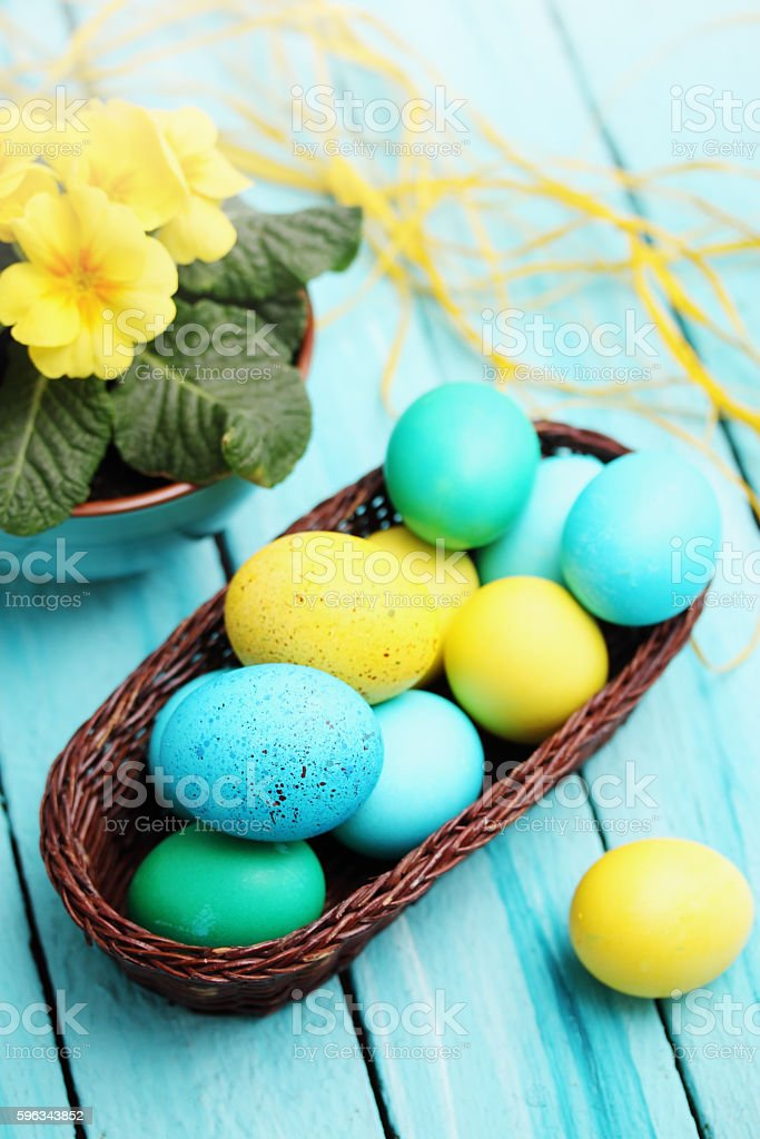 Still basket and flowers royalty-free stock photo