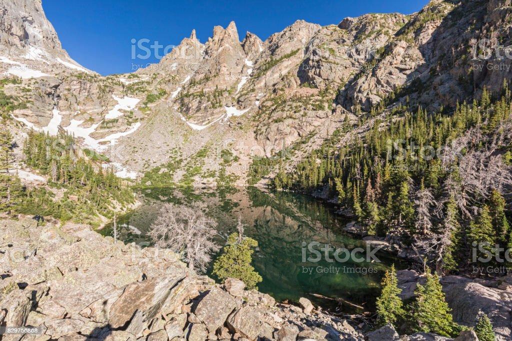 Still Emerald Lake stock photo