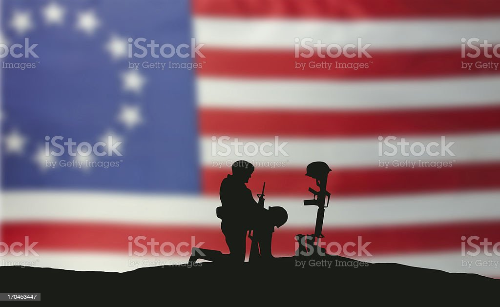 Still Fighting for Freedom royalty-free stock photo