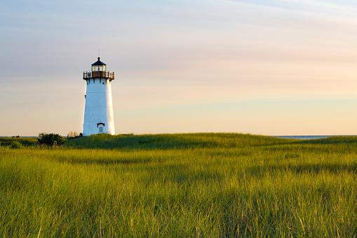 Still functioning, the Edgartown lighthouse in morning light