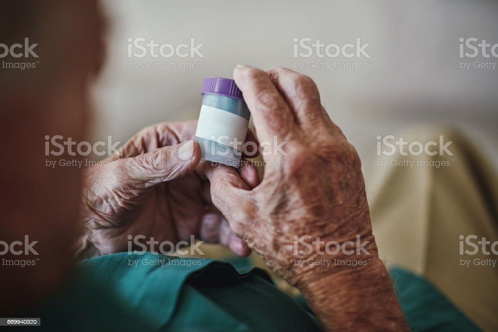 I still have a little responsibility as a senior stock photo