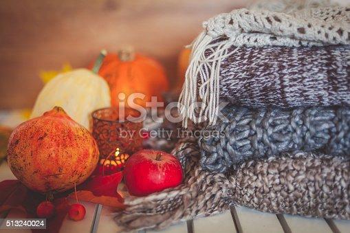 istock Still life autumn decoration 513240024