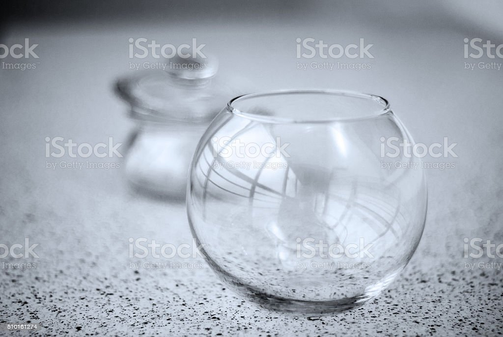 still life black and white,glass stock photo