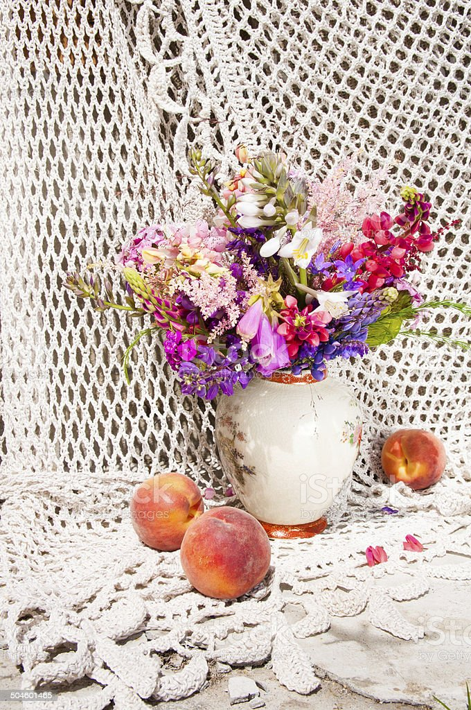 still life bouquetstill life bouquet with lupine and bright flowers