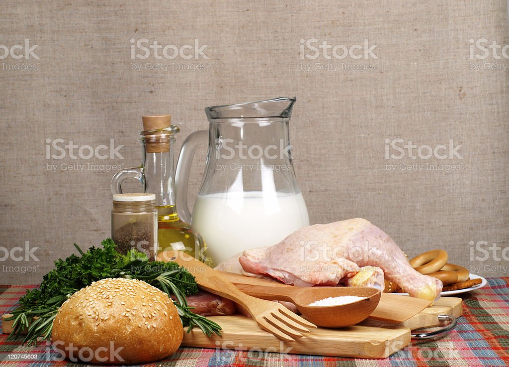Still life from a different meal royalty-free stock photo