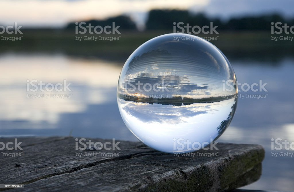 Still life glass ball stock photo