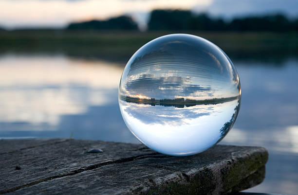 Still life glass ball stock photo