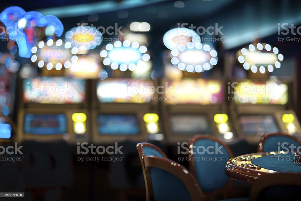 still life in a casino stock photo