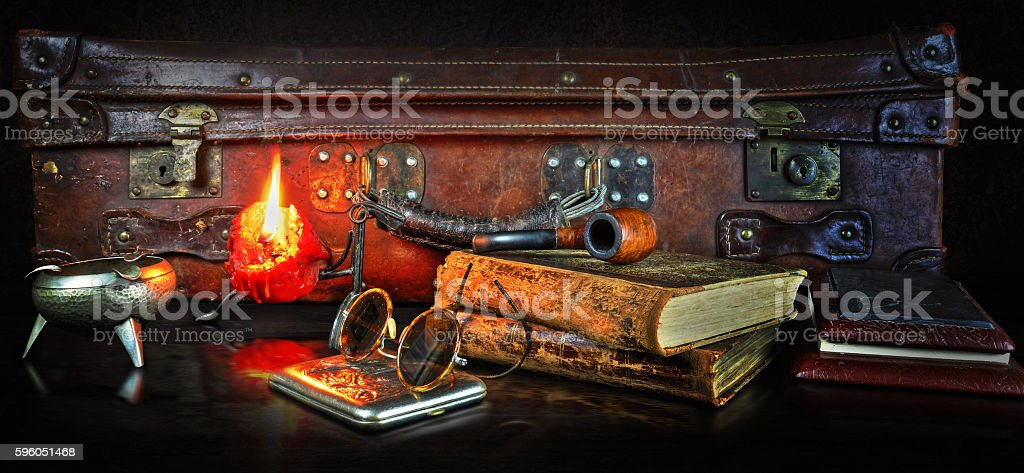 Still life in a retro style royalty-free stock photo
