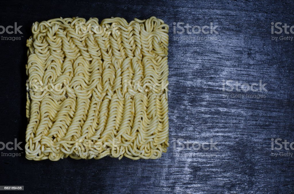 Still life instant noodles on black background 免版稅 stock photo