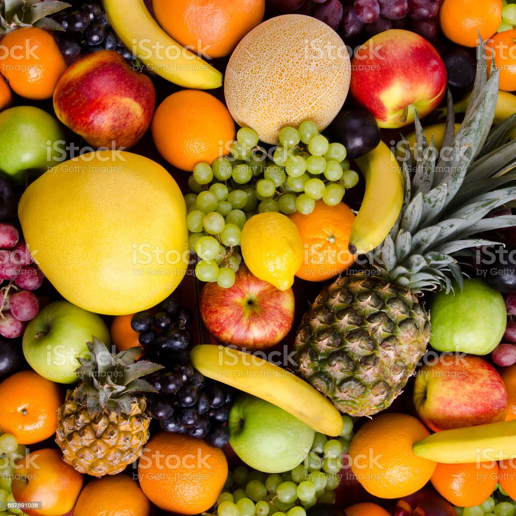 still life multifruit background stock photo