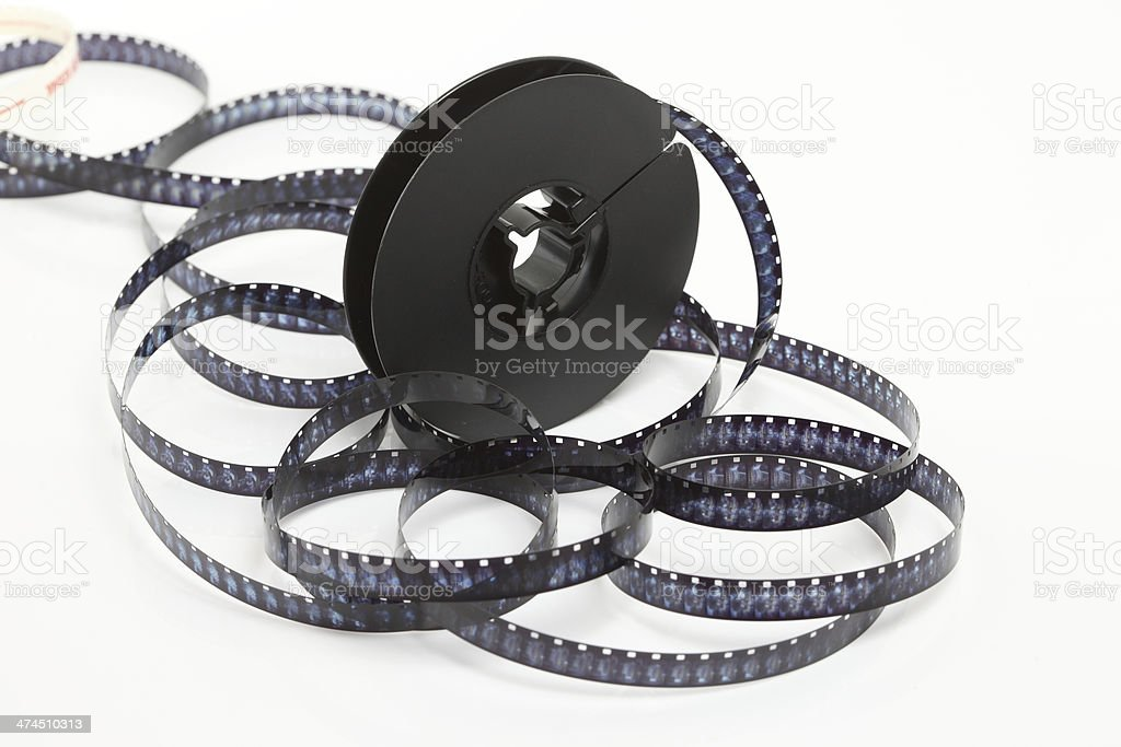 still life of 8mm cine film stock photo